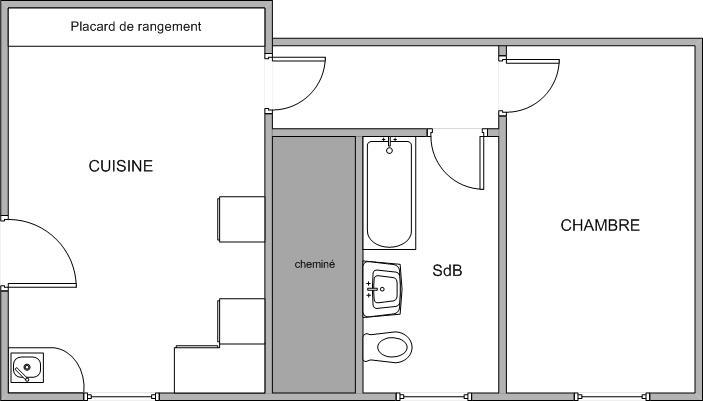 Appartement particulier, appartement, de 42m² à Saint-Yrieix-sous-Aixe