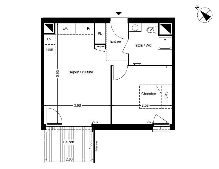 De particulier à particulier Pin-Balma, appartement appartement, 42m²