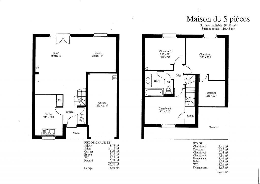 Entre particulier , maison, de 110m² à Plaisir