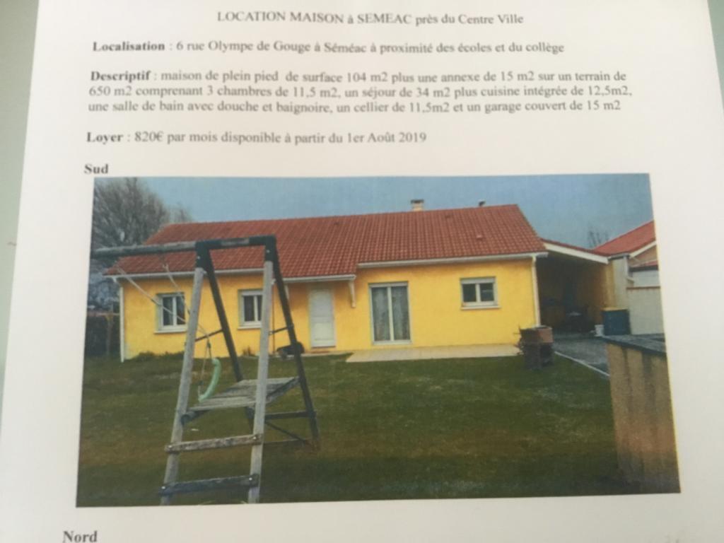 Location appartement par particulier, maison, de 104m² à Sarrouilles