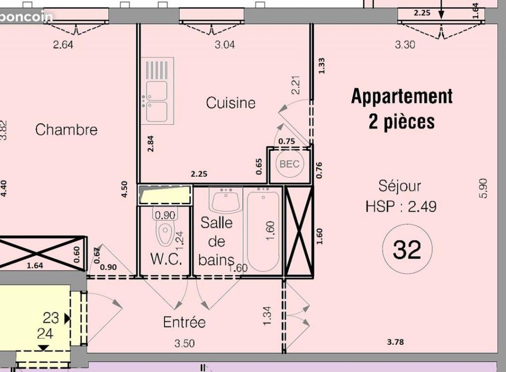 Entre particulier , appartement, de 50m² à Châteauvilain
