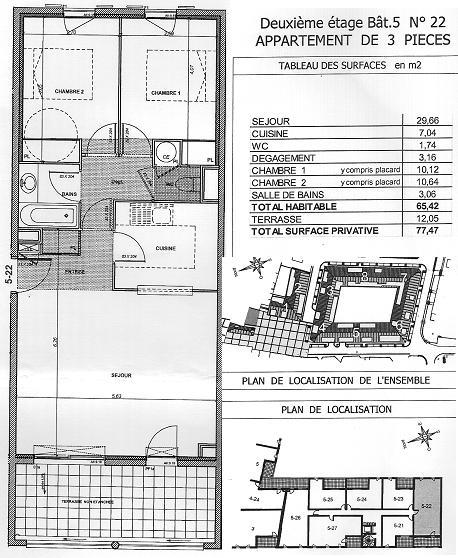 Location de particulier à particulier, appartement, de 65m² à Six-Fours-les-Plages