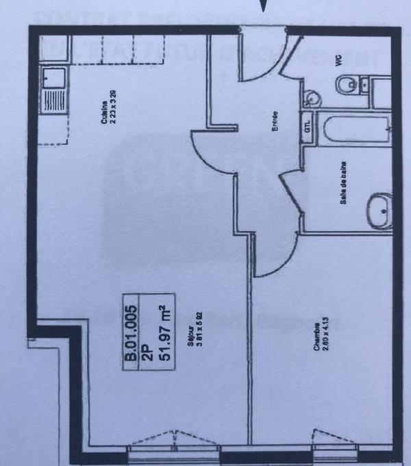 Particulier location Bagnolet, appartement, de 52m²