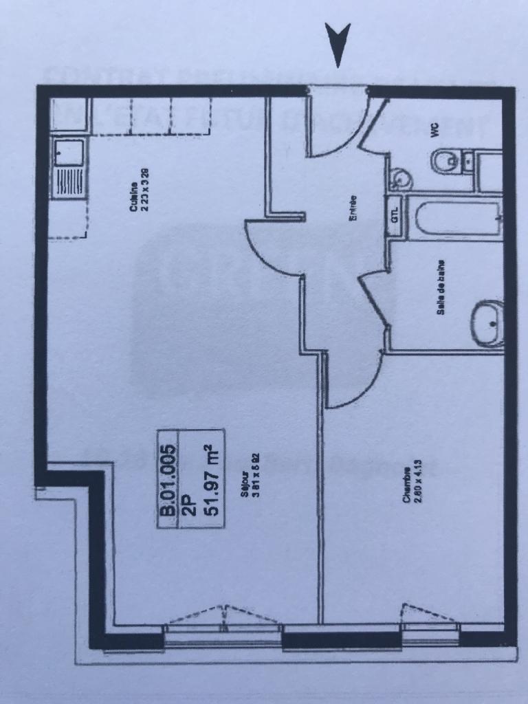 Location particulier à particulier, appartement, de 52m² à Bagnolet