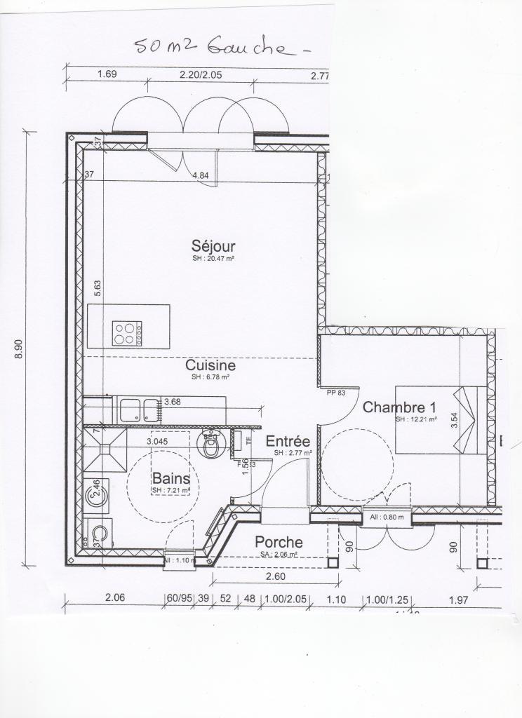 Location appartement par particulier, maison, de 50m² à Marans