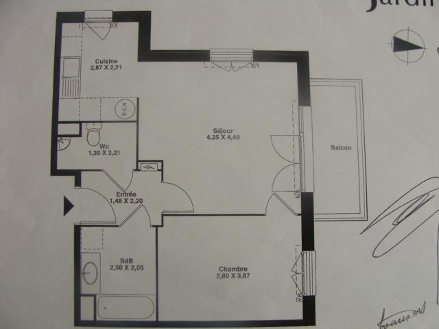 Location immobilière par particulier, Lannoy, type appartement, 50m²