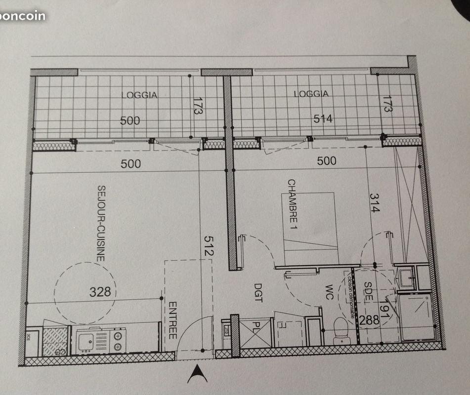 De particulier à particulier La Rochelle, appartement appartement de 50m²