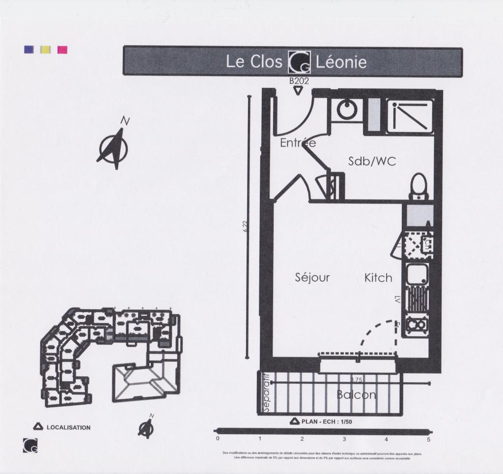 Particulier location Vigoulet-Auzil, appartement, de 22m²