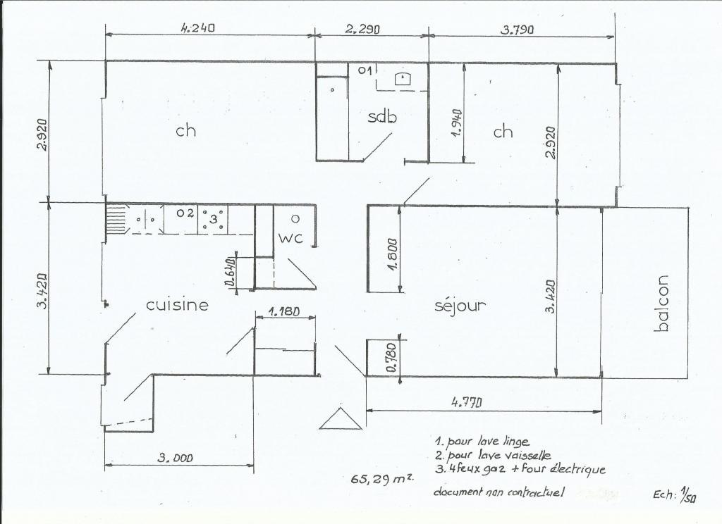 De particulier à particulier, appartement à Metz, 65m²