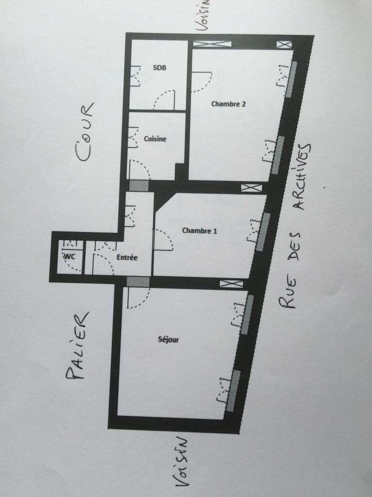 2 chambres disponibles en colocation sur Paris 04
