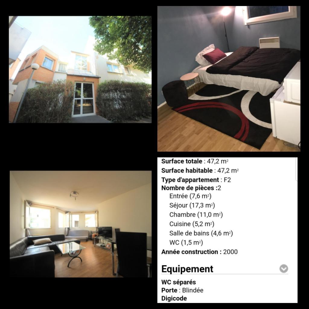 Location particulier à particulier, appartement, de 47m² à Aubervilliers