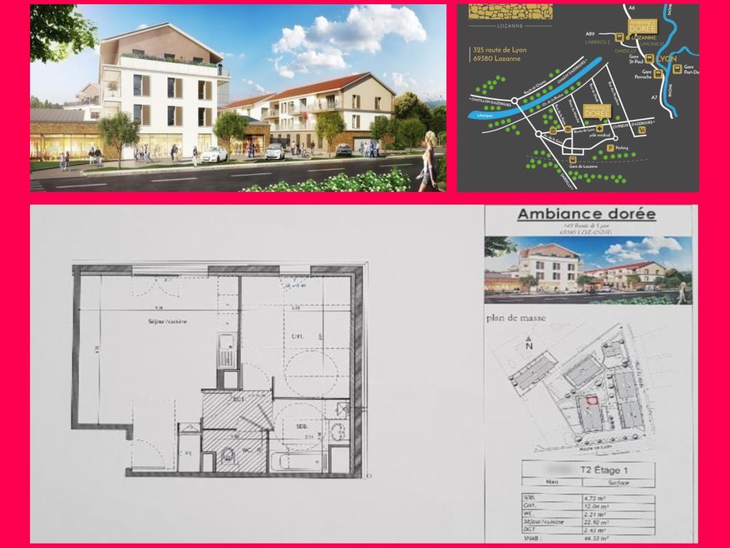 De particulier à particulier, appartement à Marcilly-d'Azergues, 44m²